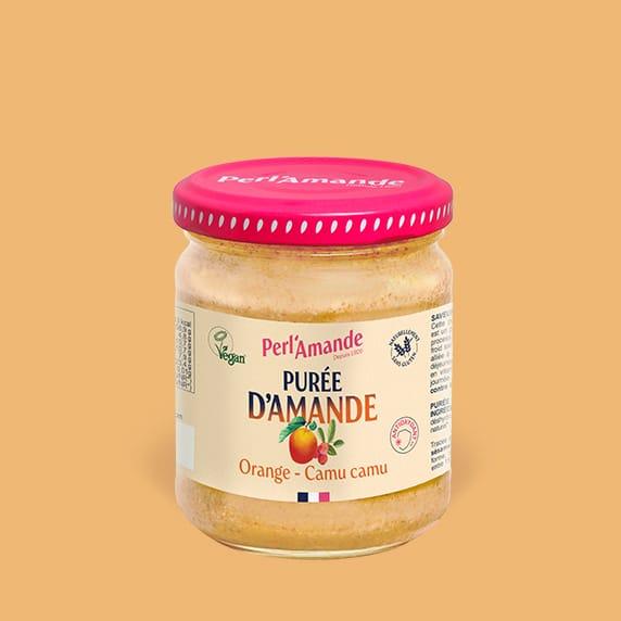 Purée d'amande & fruits - Orange, Camu camu