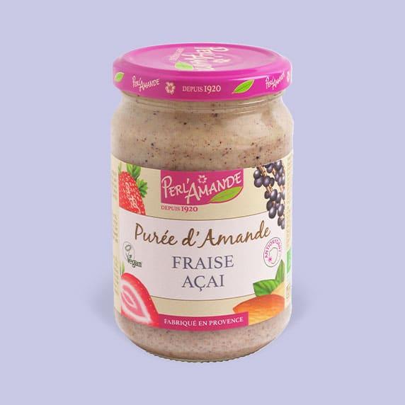 Purée d'amande & fruits - Fraise, Açaï