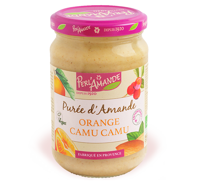 Purée d'amande & fruits - Orange, Camu camu