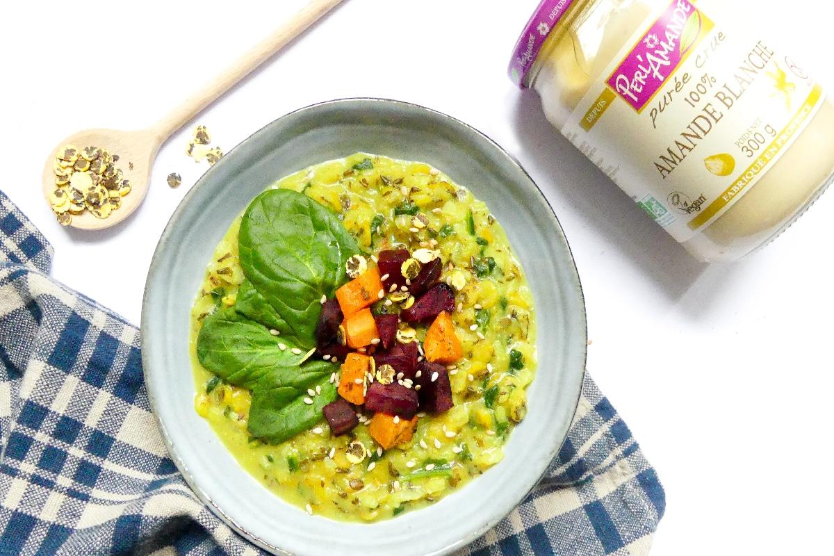 Porridge crémeux & salé @Eveisvegan