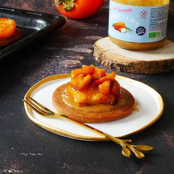 Tartelette aux kakis et douceur amande by Happy&veggy