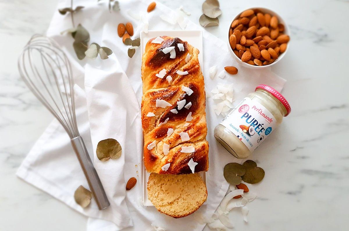 Babka à la purée amande coco by @Vie sans gluten
