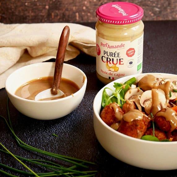 Sauce à la purée crue noix de cajou by Happy and Veggy