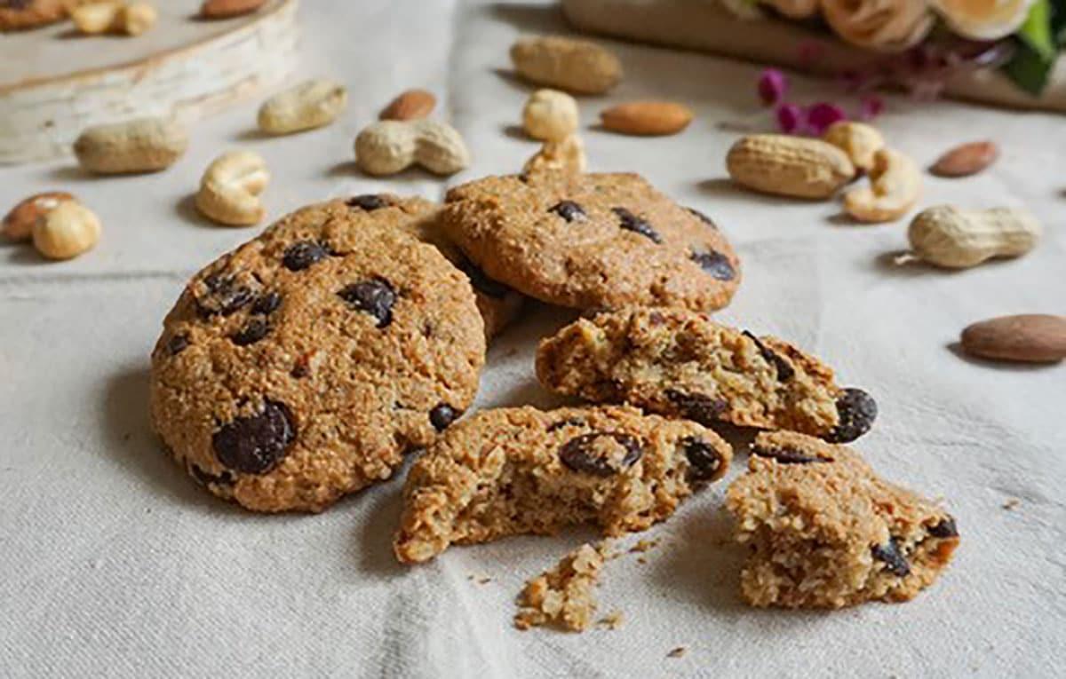 Cookies à la purée 4 fruits secs by Loulou Cuisine Healthy