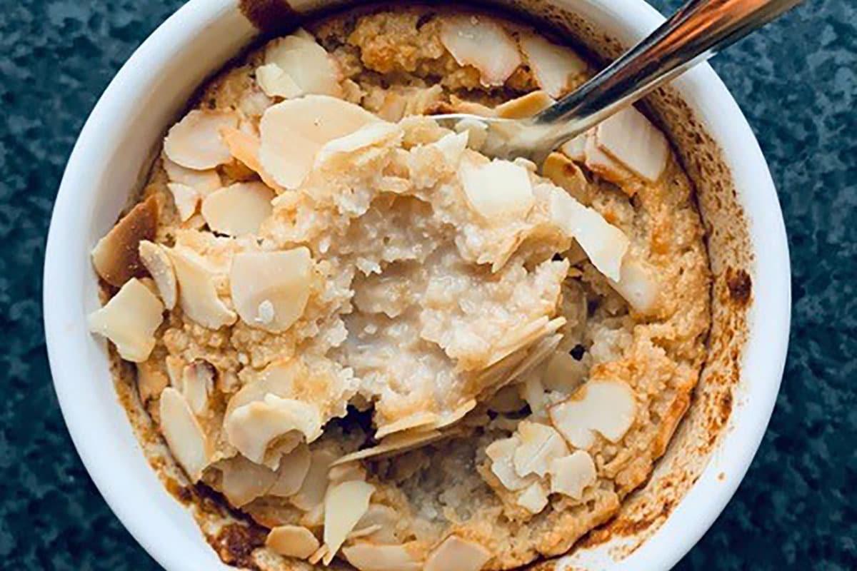 Porridge au four façon frangipane à la purée amande blanche by Alimentation Epanouie