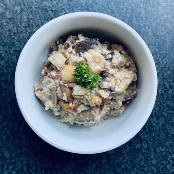 Porridge des bois à la purée noisette toastée by Alimentation Epanouie