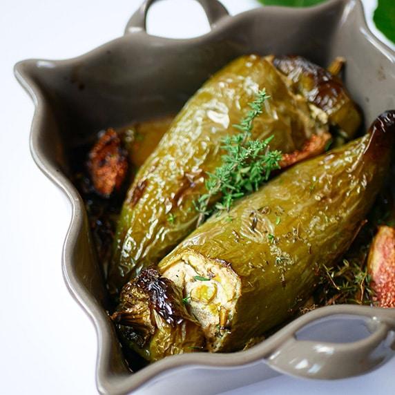 Poivrons farçies à l'amandina cuisine by Hppy and Veggy