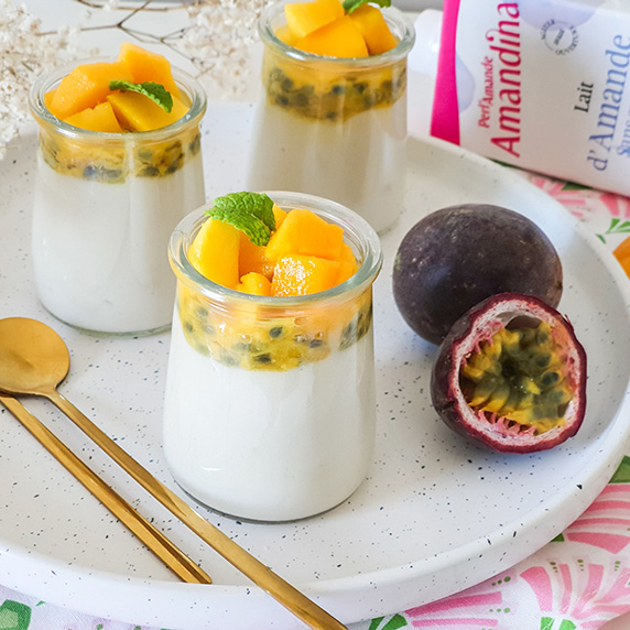 Pudding mangue passion à l'Amandina sans sucres by Vis sans gluten