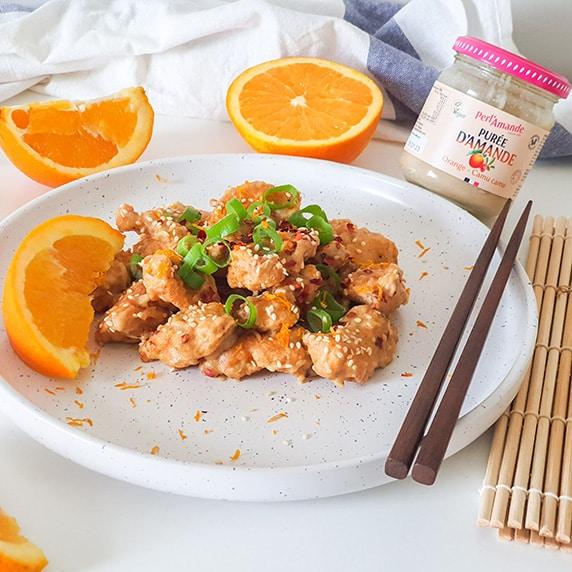 Poulet à la purée d'amande orange lucuma by Vie Sans Gluten